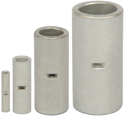 4 Pack 6AWG Non Insulated Seamless Butt Connectors, Tin Plated ~ 6 Gauge B7F-4