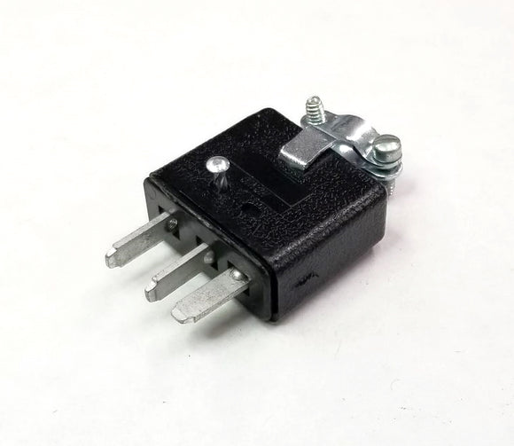 New Cinch Jones P303CCT 10 Amp Cable Mounted Male 3 Pin Connector