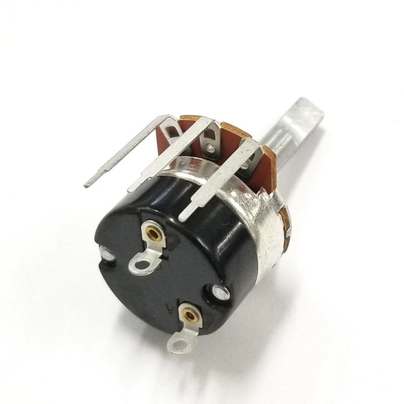 "Philmore PC385 1 Meg Ohm Audio Taper Combo Terminal Potentiometer With Switch, 24mm Body with 1/4"" D Shaft"