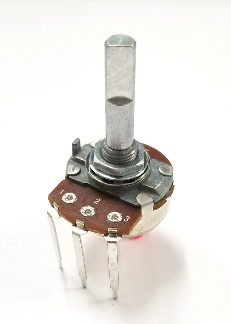 "Philmore PC31 500 Ohm Linear Taper Combo Terminal Potentiometer, 24mm Body with 1/4"" D Shaft"