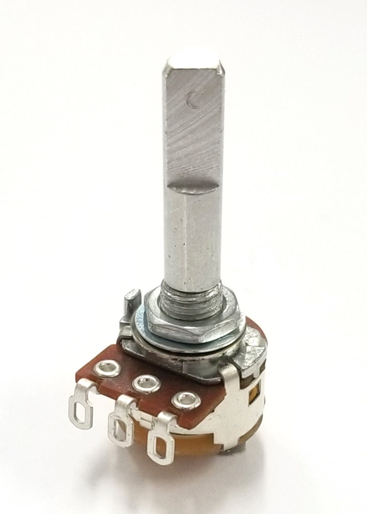 "Philmore PC775 500K Ohm Linear Taper Solder Lug Terminal Potentiometer With Switch, 16mm Body with 1/4"" D Shaft"
