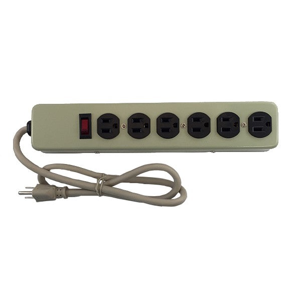 PS55U 6 OUTLET HEAVY DUTY POWER STRIP (METAL CASE)