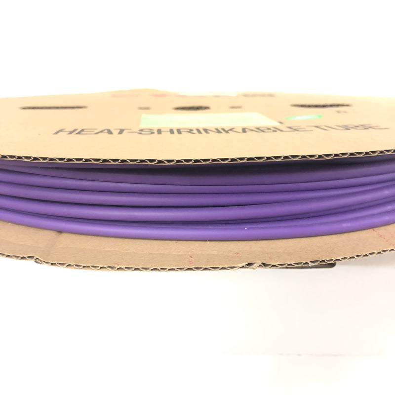 "Thermosleeve CYG HST316330, VIOLET/PURPLE 3/16"" 2:1 Heat Shrink ~ 330 Foot Roll"