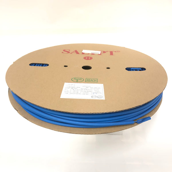 "Thermosleeve CYG HST14330, BLUE 1/4"" 2:1 Heat Shrink ~ 330 Foot Roll"