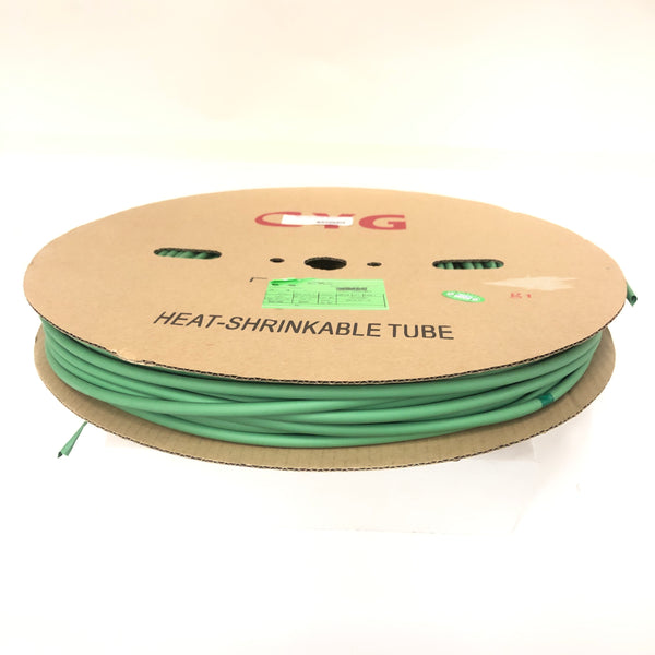 "Thermosleeve CYG HST14330, GREEN 1/4"" 2:1 Heat Shrink ~ 330 Foot Roll"