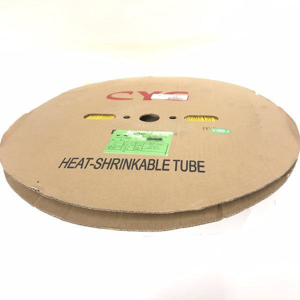 "Thermosleeve CYG HST12330, YELLOW 1/2"" 2:1 Heat Shrink ~ 330 Foot Roll"