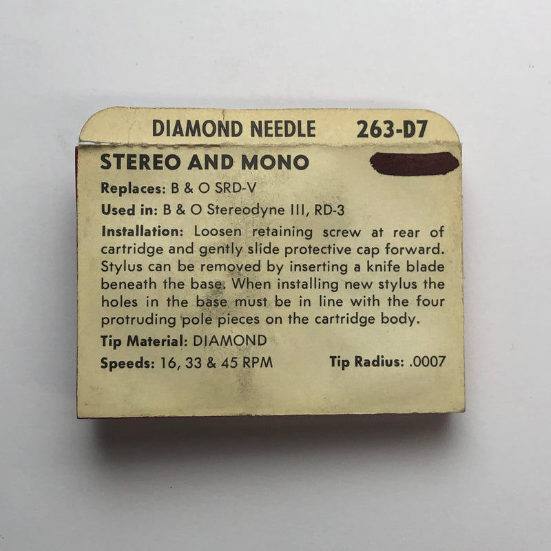 Pfanstiehl 263-D7 Diamond Needle