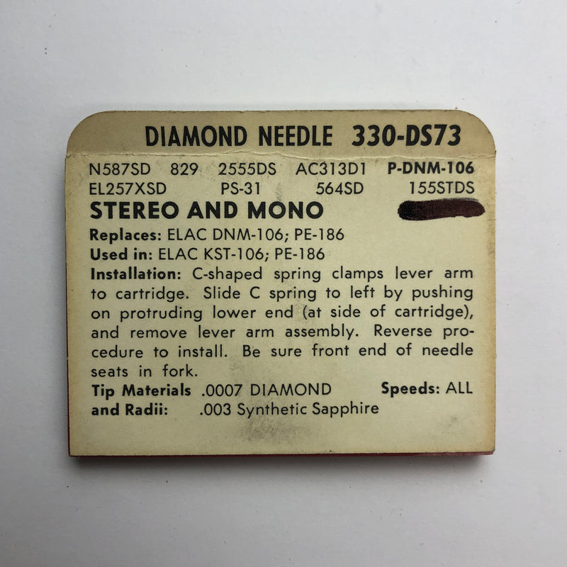 Pfanstiehl 330-DS73 Diamond Needle