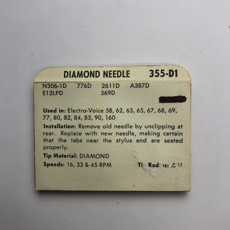 Pfanstiehl 355-D1 Diamond Needle
