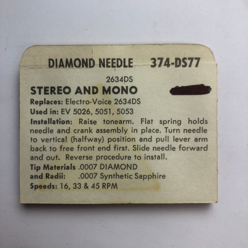 Pfanstiehl 374-DS77 Diamond Needle
