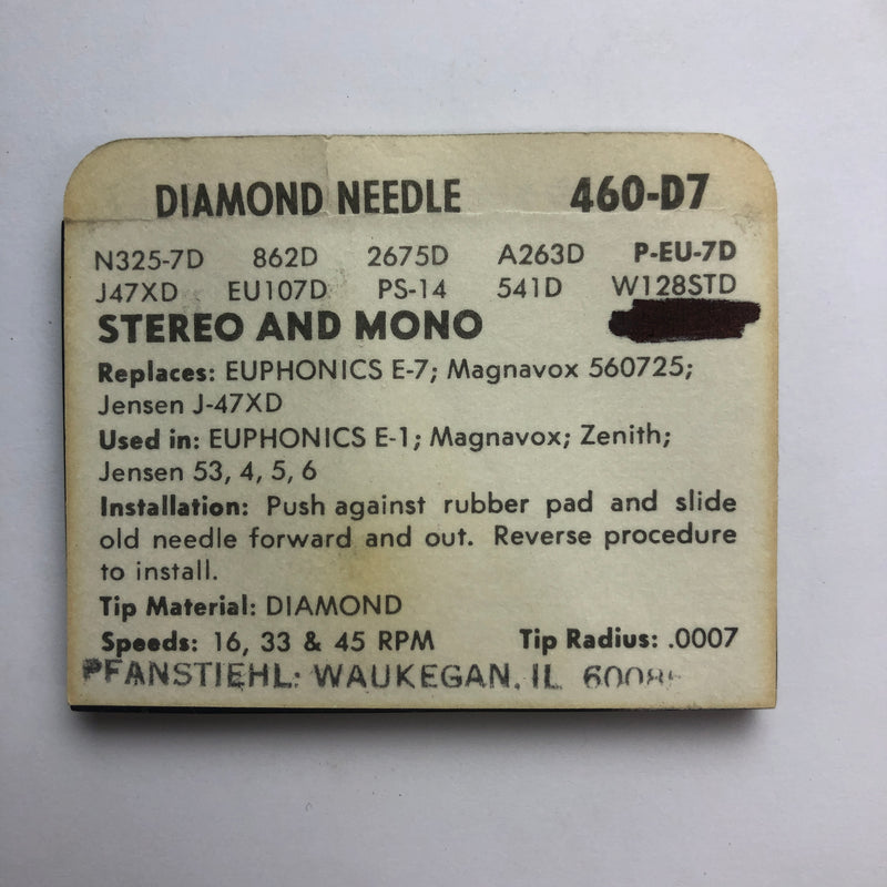 Pfanstiehl 460-D7 Diamond Needle