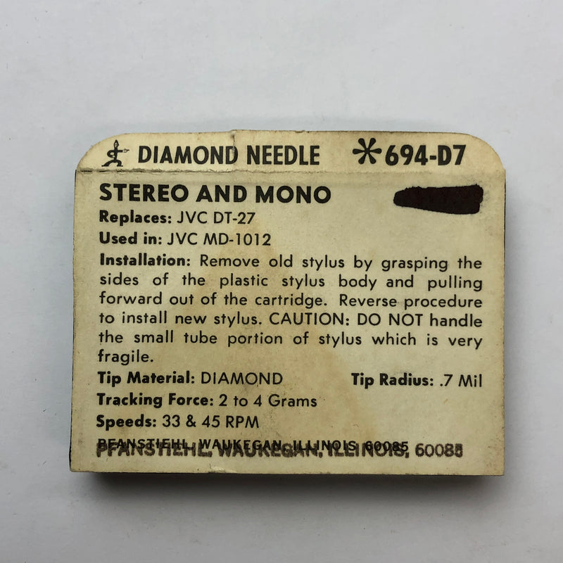Pfanstiehl 694-D7 Diamond Needle