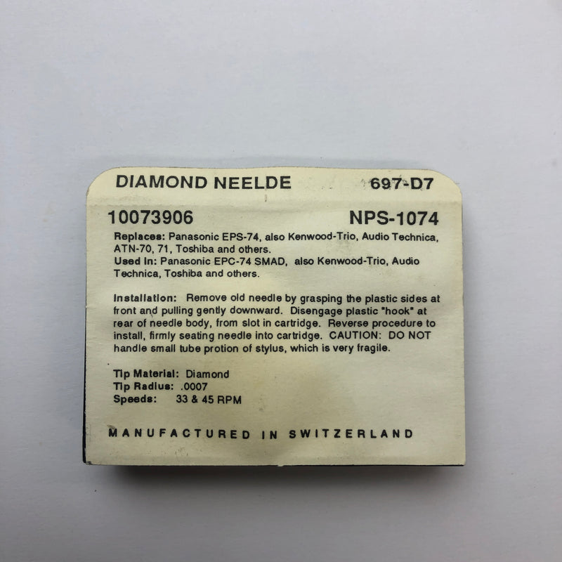 Pfanstiehl 697-D7 Diamond Needle