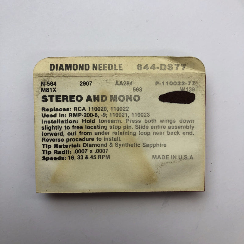 Pfanstiehl 644-DS77 Diamond Needle