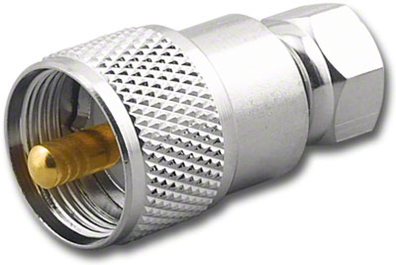 NEW Male F Plug to Male UHF Plug Adapter RFA-8174