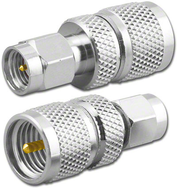 NEW Male SMA Plug to Male Mini UHF Plug Adapter RFA-8284
