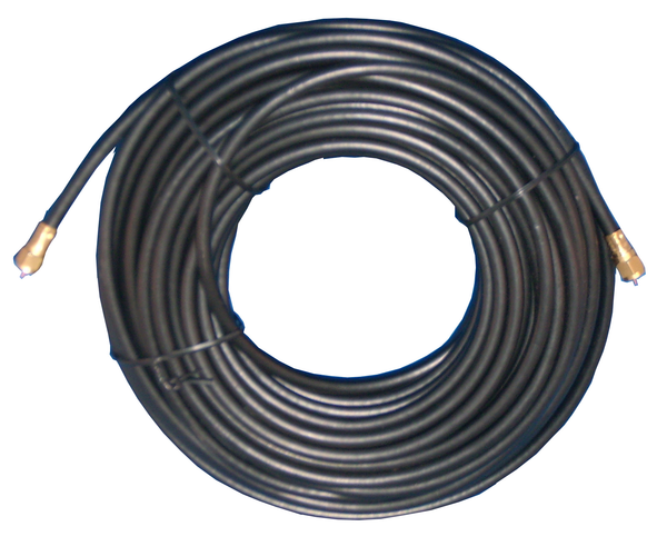 Philmore RG6100 Direct Burial Grade Type F TV Coax Cable ~ BLACK 100 Foot Length