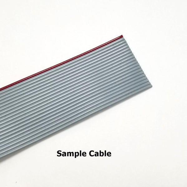 "5' 16 Conductor Ribbon Cable for 0.100"" (2.54mm) Spaced IDC Connectors ~ 5FT 16C"