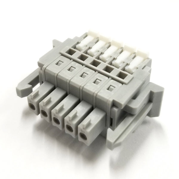Sato Parts # SL-4000-AP-5P, 5 Female Pin Screwless, Latching Terminal Plug