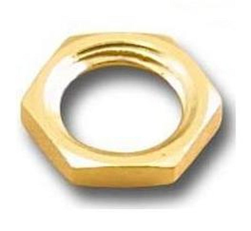 SMA-HN8-G, Gold Plated Hex Nuts for SMA Connectors ~ 50 Pack