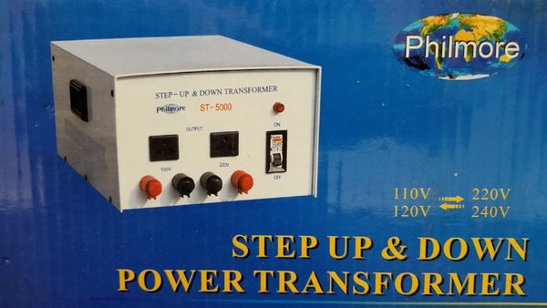 Philmore # ST5000, 5000 Watt Step Up / Step Down Transformer, 110V AC/220V AC