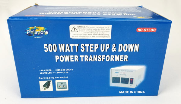 Philmore # ST500, 500 Watt Step Up / Step Down Transformer, 110V AC/220V AC