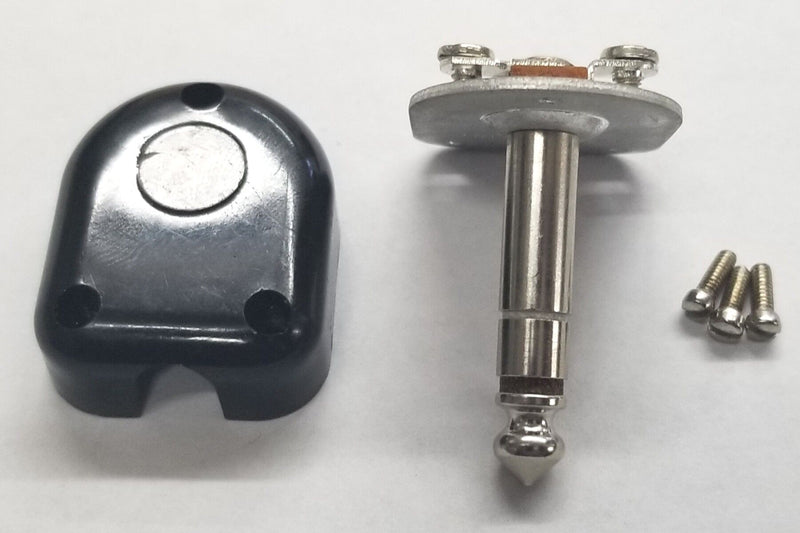 "Switchcraft 230, 1/4"" Stereo Right Angle Flat Plug 3-Conductor, Screw Terminals"