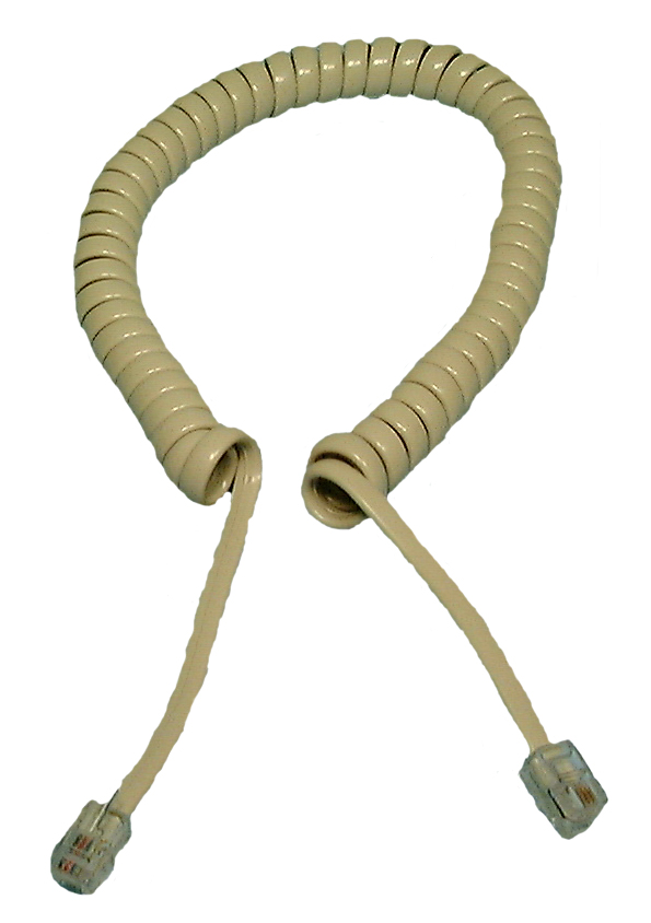 Philmore TEC25 AL, Almond 25 Foot Coiled Handset Telephone Cord