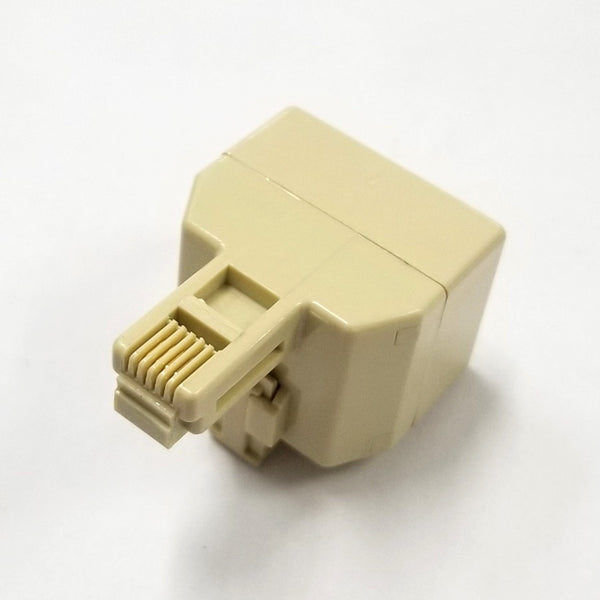 Philmore TEC296 6 Conductor RJ11, Single Male to Dual Female Modular Telephone Adapter