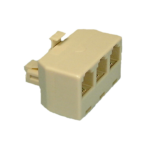 Philmore 75-6268 6 Conductor RJ11, 3 Line Female Modular Telephone Adapter