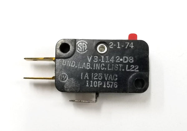Micro Switch V3-1142-D8 SPDT ON-(ON) Pin Plunger Snap Action Switch 1A @ 125V AC