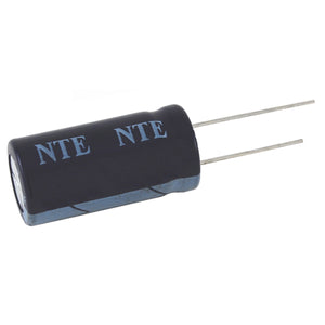 NTE VHT680M25 680uF, 25V, 105C High Temperature Aluminum Electrolytic Capacitor, Radial Lead