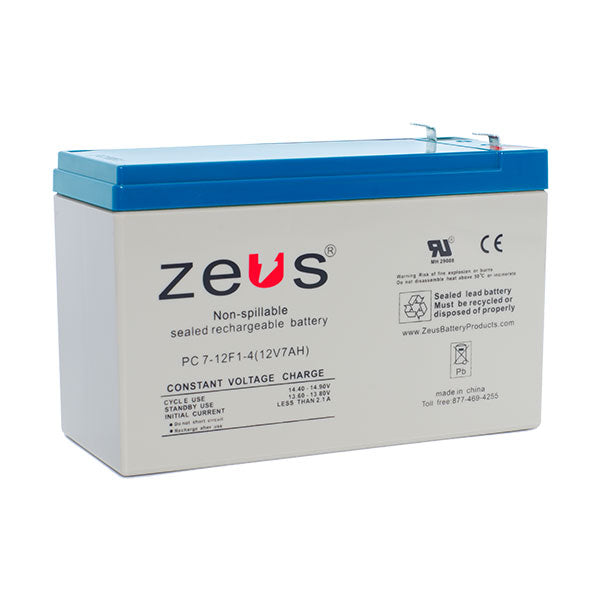 PC7-12  F2  Rechargable SLA Sealed Lead Acid Battery Zeus