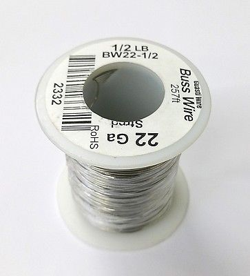 22 Gauge Tinned Copper Bus Wire, 1/2 Pound Roll (257' Approx. Length) 22AWG - MarVac Electronics
