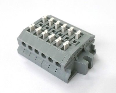 Sato Parts # ML-1700-A-6P 6 Position Screwless Terminal Block ~ 10A 300V