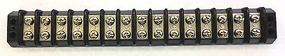 TRW Cinch 15-142, 15 Posistion Terminal Block Barrier Strip 30A @ 250V AC - MarVac Electronics