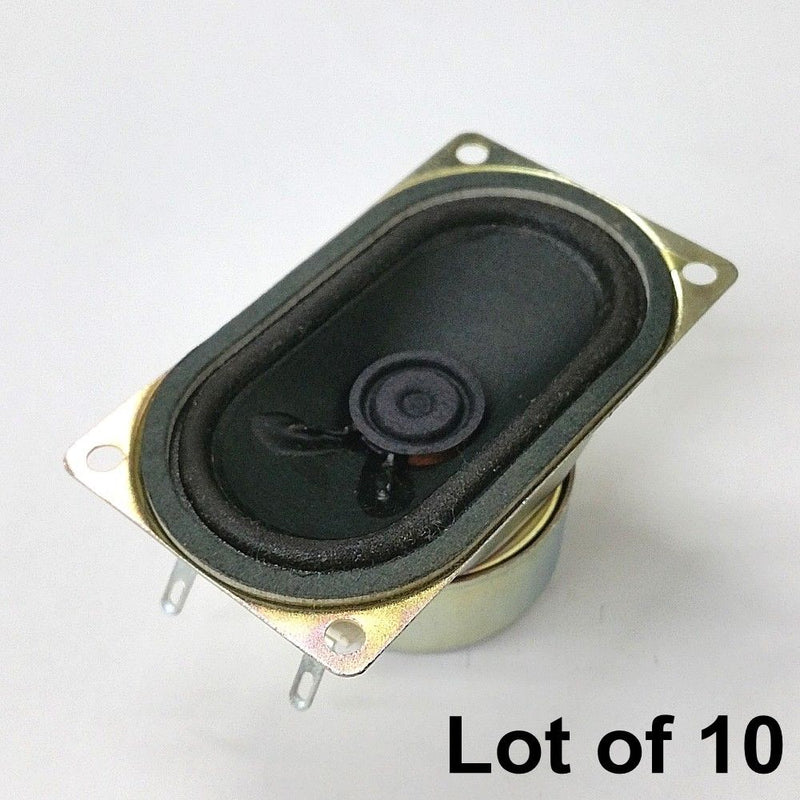 Lot of 10 Shenzhen Wata WTV4070F 41mm x 71mm 8 Ohm 3 Watt Speaker