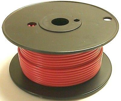 100' Roll 18 Gauge 18AWG RED GPT PVC Stranded 50V Automotive Hook Up Wire