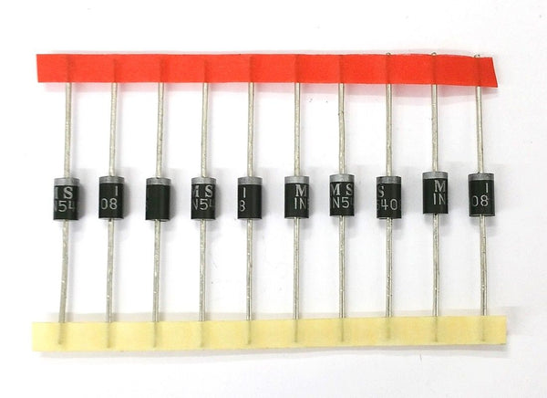 Lot of 10 Microsemi Corp # 1N5408 3 Amp 1,000 Volt Rectifier Diodes 3A 1,000V