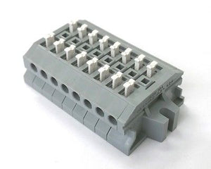 Sato Parts # ML-1700-A-8P 8 Position Screwless Terminal Block ~ 10A 300V