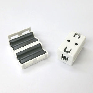 Lot of 2 White Snap On EMI RFI Ferrite Cores for RG8X, 58, 59 & LMR240 Coax - MarVac Electronics