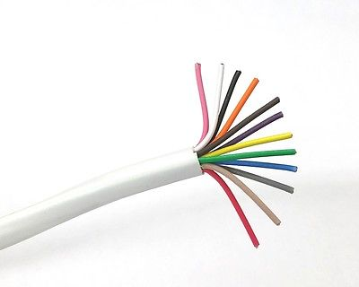 25' 12 Conductor 22 Gauge Unshielded Cable, CMR Rated 25 Foot ~ 12C 22AWG U2212 - MarVac Electronics