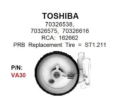 PRB VA30 VCR Idler For Toshiba: 70326538, 70326575, 70326616 VA-30 - MarVac Electronics