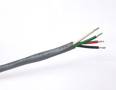 10\' Alpha Wire 5064C, 4 Cond 18 Gauge Unshielded Cable 4C 18AWG Oil ...