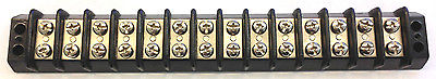 TRW Cinch 14-142, 14 Position Terminal Block Barrier Strip 30A @ 250V AC - MarVac Electronics