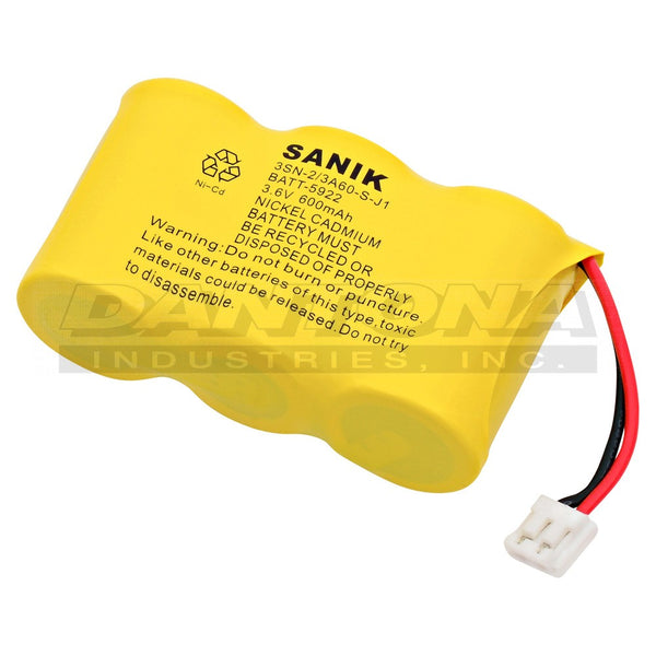 3.6V 600MaH NiCad Battery BATT-5922