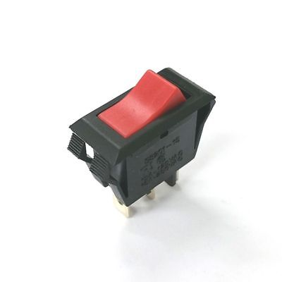 Joemex S8201-15 SPST ON-OFF, 125V RED Illuminated Rocker Switch 15A @ 125V AC