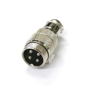 4 Pin Male In-Line CB Mic or Ham Radio Microphone Connector