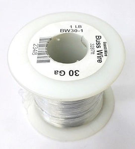 30 Gauge Tinned Copper Bus Wire, 1 Pound Roll (3,287' Approx. Length) 30AWG - MarVac Electronics