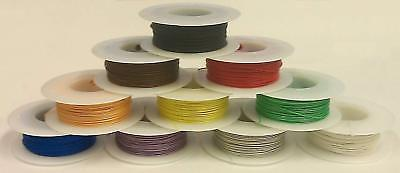 10 Color Assortment 30AWG Solid Kynar Insulated Electronic, Hobby or Crafts Wire